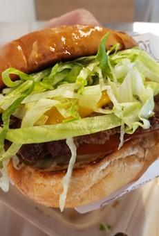 Impossible Burger w/vegan American cheese, lettuce, tomato, pickles, WPBC sauce, toasted potato bun