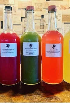 Cocktails to go were made available for purchase from Winter Park's New Standard restaurant early on in the pandemic.