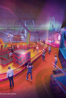 Concept art for the indoor Cirque du Soleil themed FECs