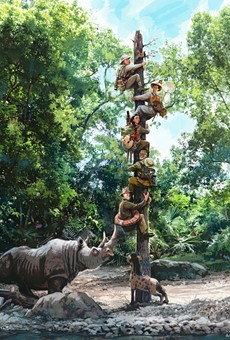 Concept art provided by Disney for the revamped Jungle Cruise