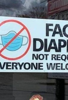Weeki Wachee restaurant goes viral with 'face diapers not required' proclamation and signage