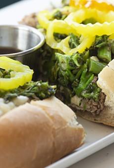 Herb-roasted pork sandwich.