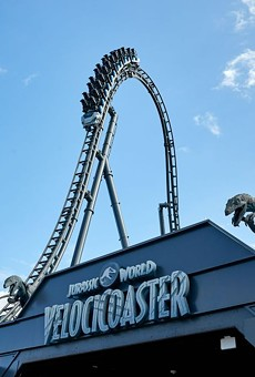 Entrance of the Velocicoaster at Islands of Adventure