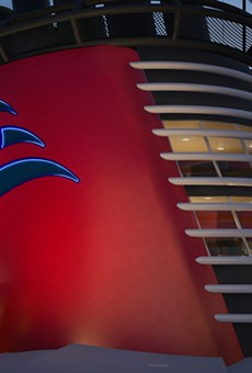An exterior view of the Wish Tower Suite on the upcoming Disney Wish cruise ship.