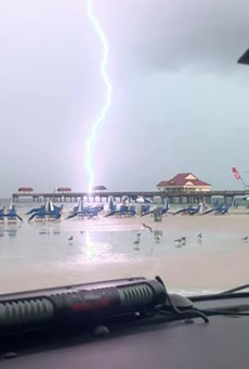 Clearwater Police capture shocking photos of lightning striking popular beach