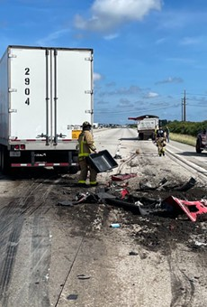 A dump truck spilled manure all over northbound I-95 on Tuesday.