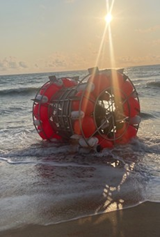 Reza Baluchi washed up on the shores of a Florida beach again.