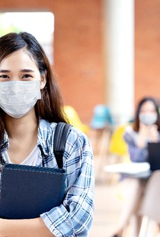 Orange County saw few students opting out of its optional mask policy.