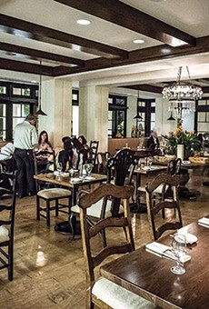 The dining room at Hamilton's Kitchen at the Alfond Inn