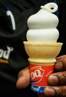 DQ doling out free cones today to support Children's Miracle Network