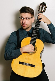 Local avant guitarist Christopher Belt gets a chance to demonstrate his range at Blue Bamboo