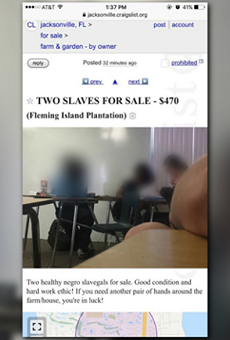 Florida student suspended for posting 'Slaves for Sale' Craigslist ad
