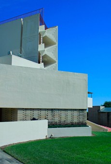 One of Frank Lloyd Wright's buildings at Florida Southern College