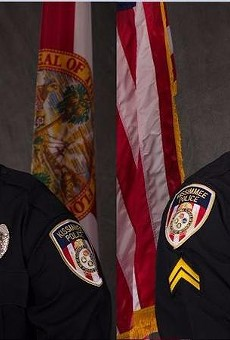 "Officer Matthew Baxter, left, and Sgt. Richard ""Sam"" Howard, right."