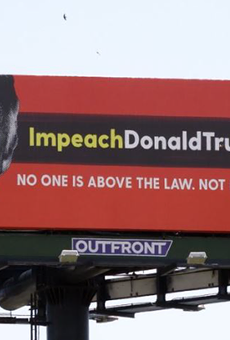 Group calling for Trump's impeachment puts up billboard near Mar-a-Lago