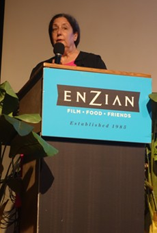 Nina Streich, GPFF founder and executive director, addresses the audience on opening night.