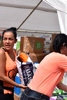 Orlando's Puerto Rican community gathers supplies for the island on Sept. 30.