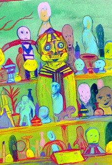 Artist Brandon Geurts returns to town with a new show and a new palette
