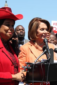 Rep. Frederica Wilson with Nancy Pelosi