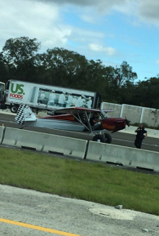 Some guy just landed a plane on I-4 during rush hour traffic