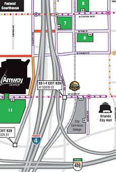Saturday will be a traffic nightmare in downtown Orlando