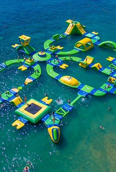 A giant floating water park is officially coming to Lake Nona next summer