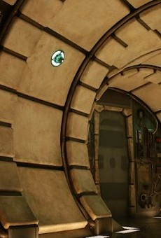 Here's the inside of the Millennium Falcon ride at Disney's Star Wars: Galaxy's Edge