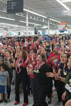 Puerto Rican parranda takes over Kissimmee Walmart