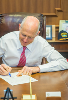 Rick Scott is just going to go ahead and declare UCF as national champions