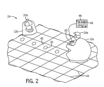A rendering found within the patent that shows what the ride vehicles may look like. - IMAGE VIA UNITED STATES PATENT APPLICATION US20150360127