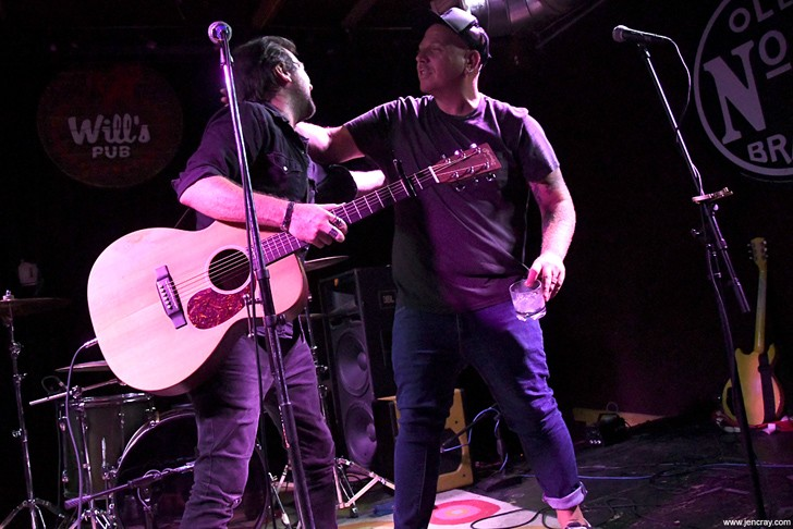 Mike Dunn and Louis DeFabrizio at Will's Pub - JEN CRAY