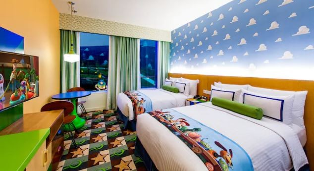 A typical room in the Toy Story Hotel at Shanghai Disneyland - IMAGE VIA SHANGHAI DISNEYLAND