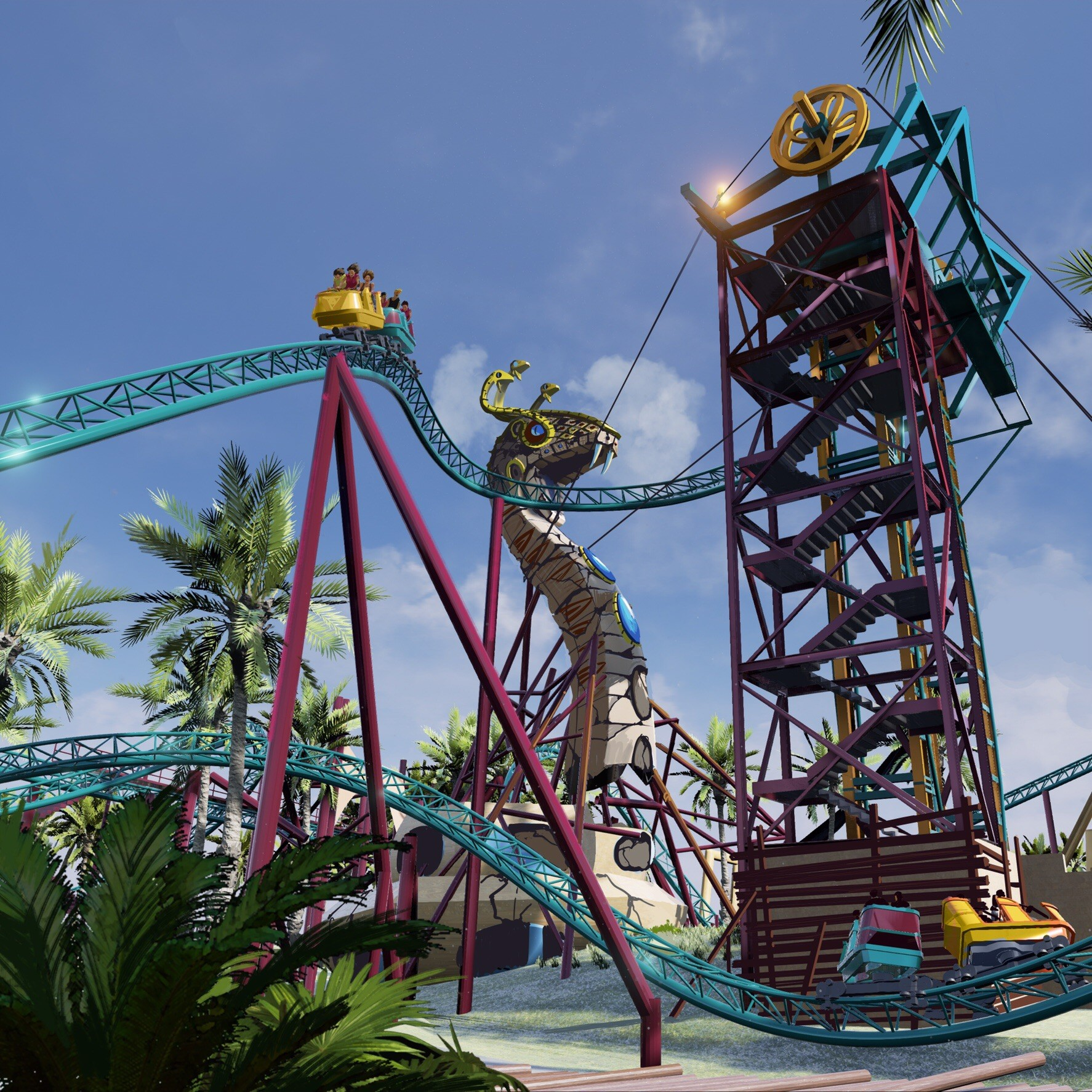 Video cobra 39 s curse family coaster coming to busch - Busch gardens rides height requirements ...