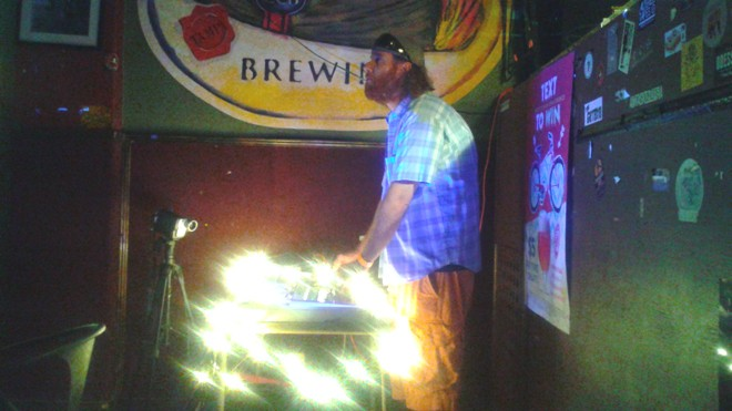 Broken Machine Films' Joshua Rogers at Will's Pub (Illuminated Paths showcase tour)