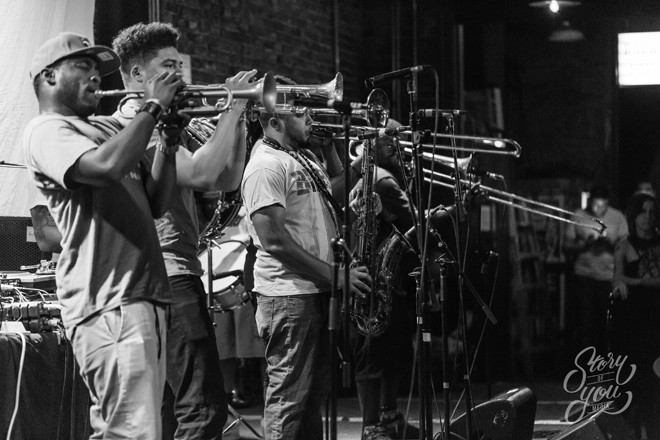 New Breed Brass Band at the Social - PHOTO BY STORY OF YOU MEDIA