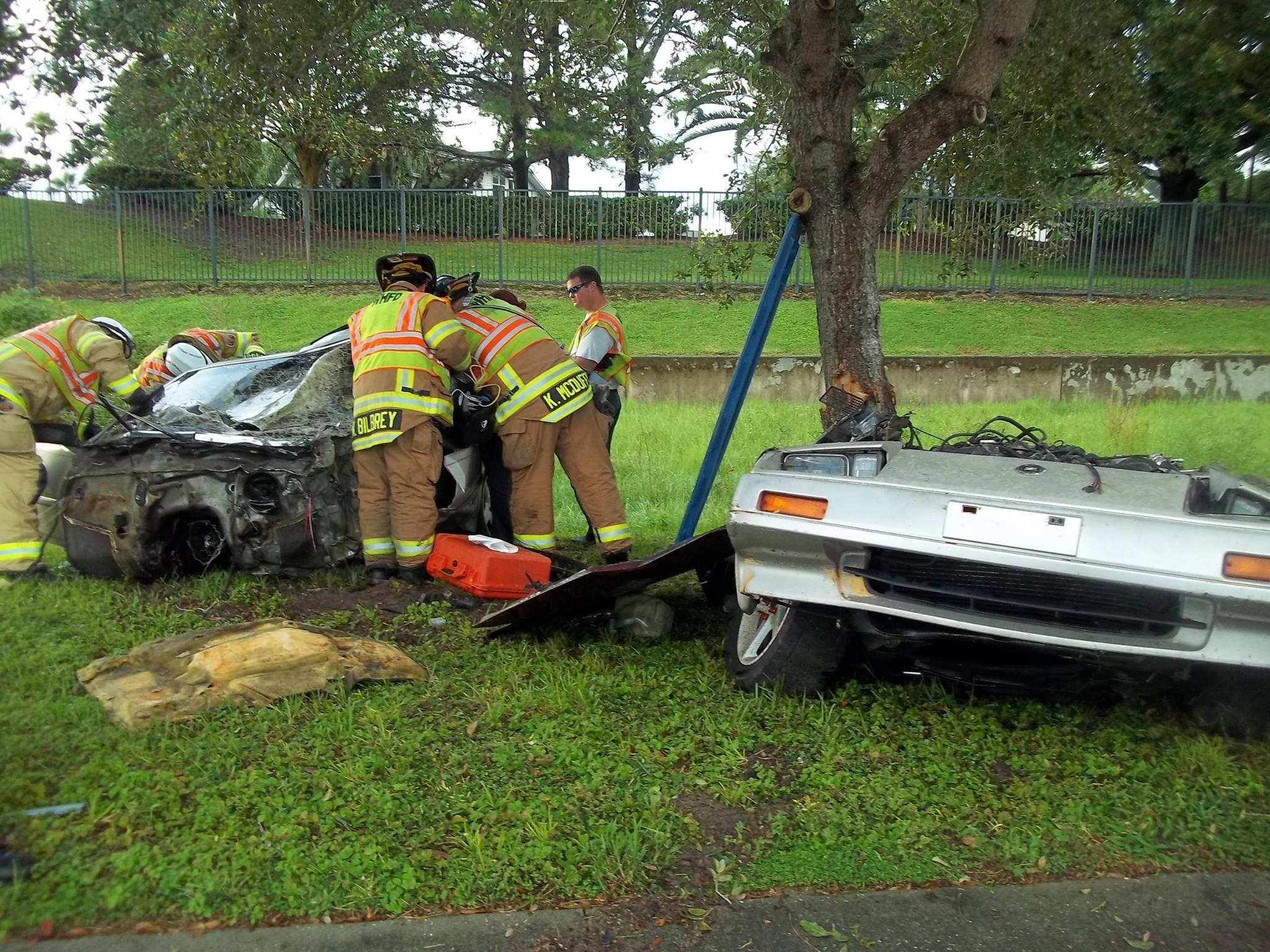 a winter haven man survived this horrific car crash tuesday night