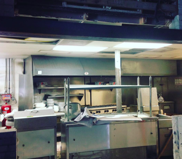 "@nova_orlando: We will be featuring a bricked in ""show"" kitchen so everyone can watch the chefs at work and smell the glorious flavors melding together @nova_orlando #construction #buildout - PHOTO VIA NOVA ON INSTAGRAM"