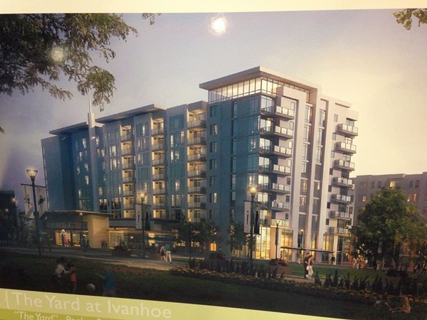 "DEVELOPERS' RENDERING OF THE ""YARD AT IVANHOE VILLAGE"""