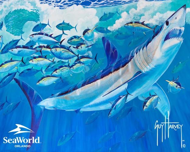 Watch marine artist Guy Harvey paint a new shark mural at SeaWorld ... c0b19e6e4ea6