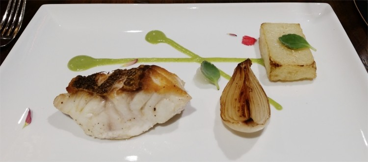 Yellowtail snapper, chayote, embered onions, lime - PHOTO BY FAIYAZ KARA