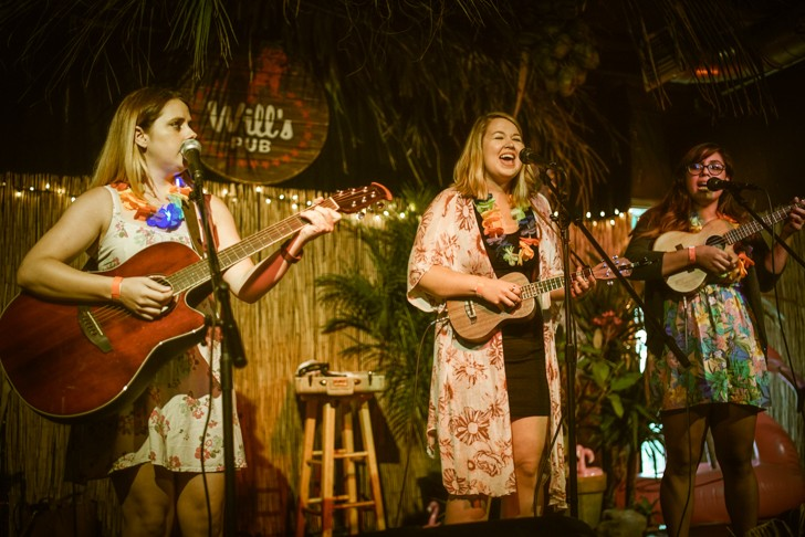 The Uke-A-Ladies at Will's Lil' Tiki Party (Will's Pub) - MIKE DUNN
