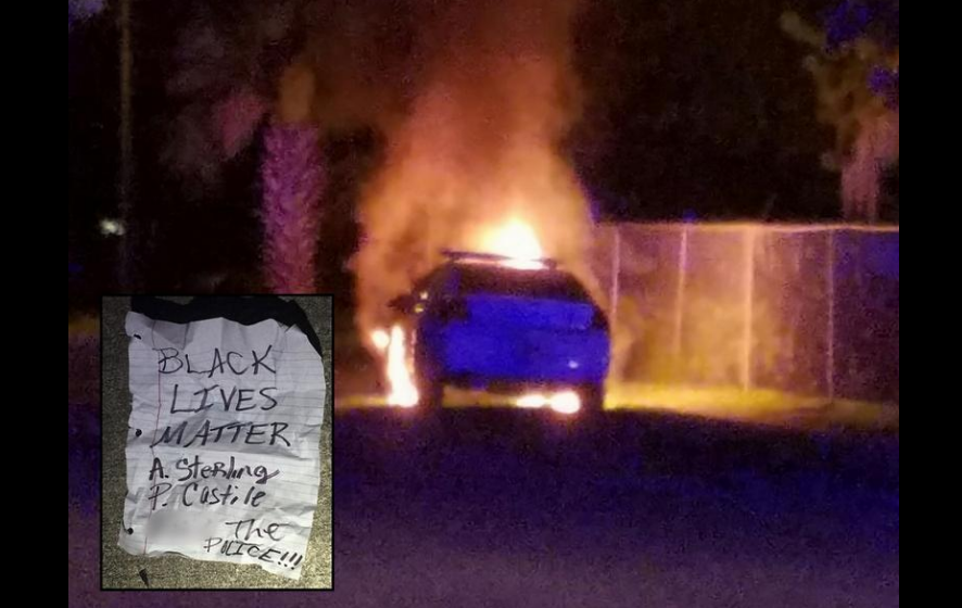 A police car was set on fire in Daytona Beach, Black Lives Matter note  found nearby | Blogs