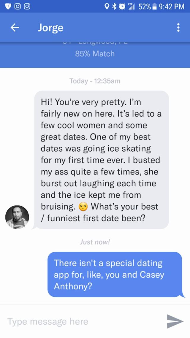 best opening line dating app