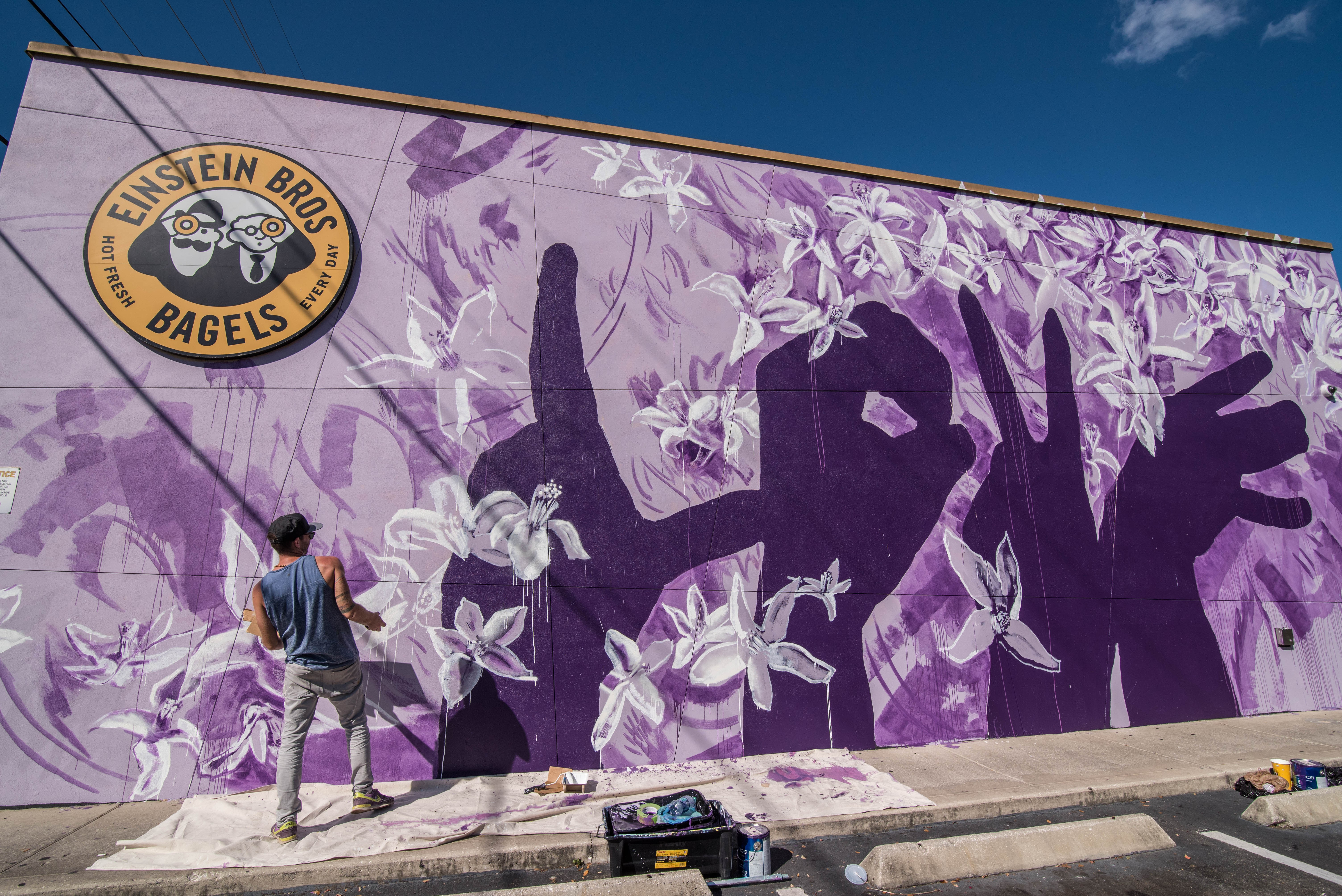 Love mural honors pulse victims helps community heal blogs for Community mural