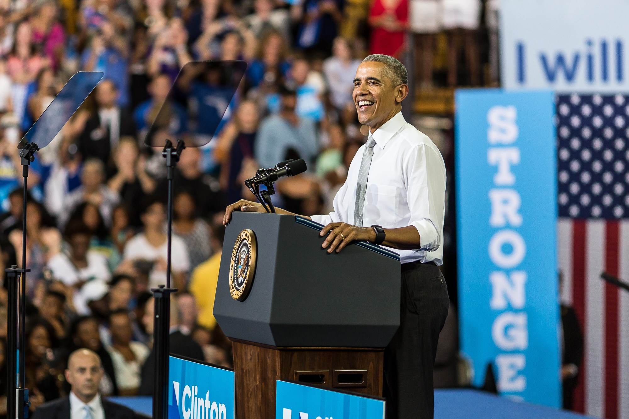 President Obama encourages voting at Capital University rally