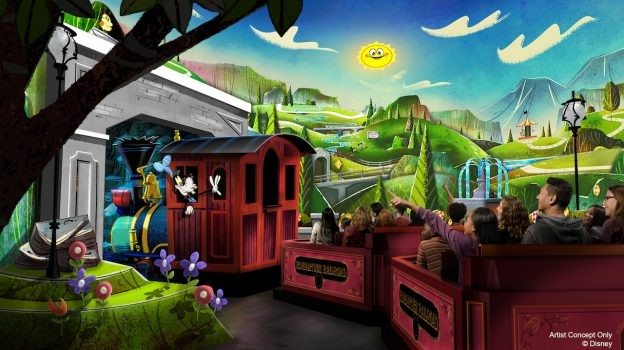 Concept art for Mickey and Minnie's Runaway Railway - IMAGE VIA DISNEY