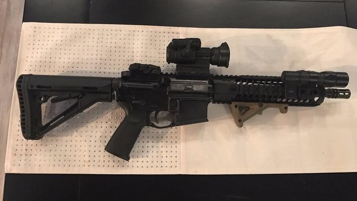 The short-barreled AR rifle stolen from a Tavares police officer last weekend - PHOTO VIA EUSTIS POLICE DEPARTMENT