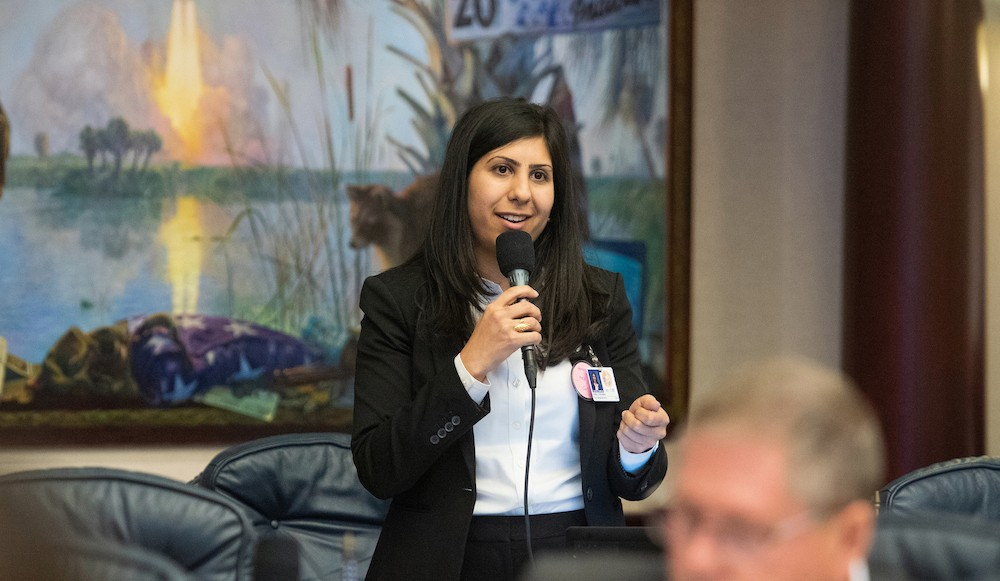 Rep. Anna V. Eskamani speaks during legislative session on April 3, 20919 - PHOTO COURTESY FLORIDA HOUSE OF REPRESENTATIVES