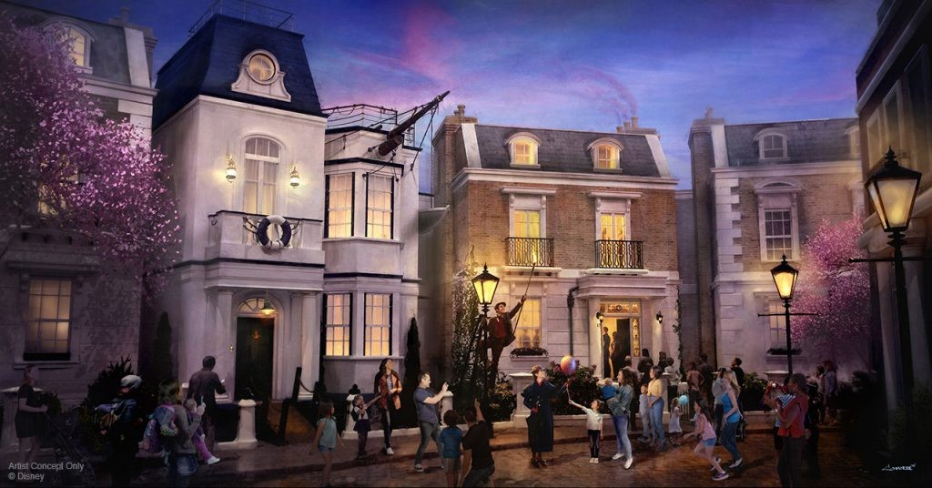 Cherry Tree Lane heading to Epcot's U.K. pavilion - IMAGE VIA DISNEY