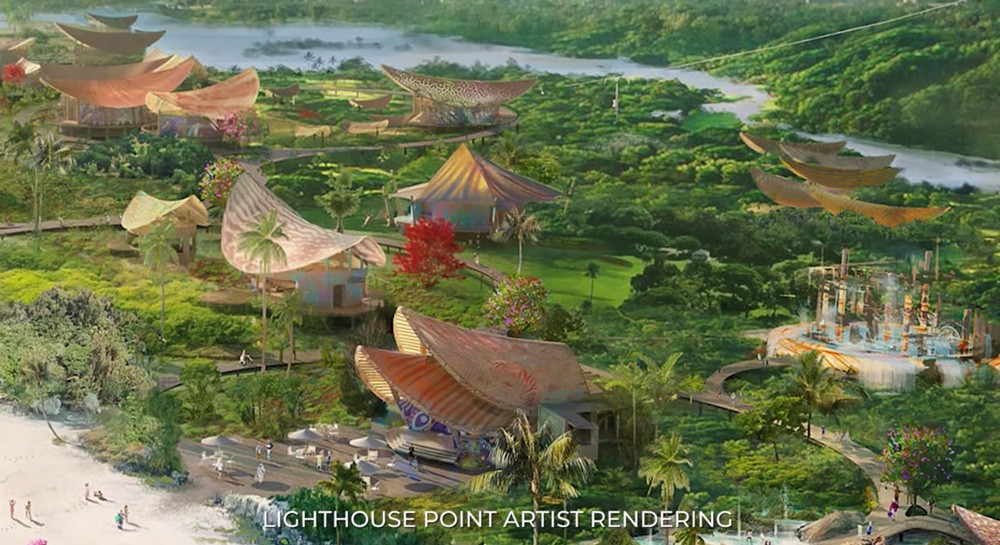 Disney's rendering of plans for Lighthouse Point on the island of Eleuthera, Bahamas - SCREEN GRAB IMAGE VIA DISNEY PARKS BLOG / YOUTUBE